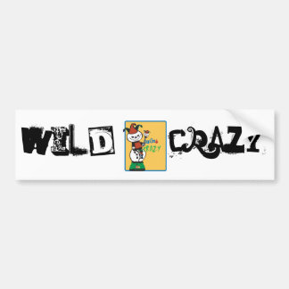 Dead Ed Jester's Wild & Crazy Car Bumper Sticker