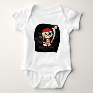 Dead Ed-Ninja v Pirate For Infants Baby Bodysuit