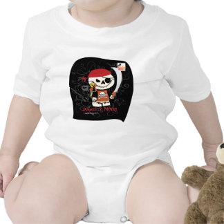 Dead Ed-Ninja v Pirate For Infants Baby Creeper