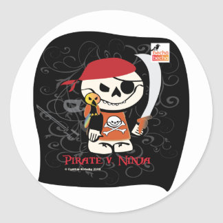 Dead Ed-Ninja v Pirate Stickers