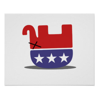 Dead Elephant GOP Posters