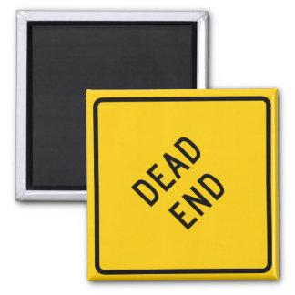 Dead End Highway Sign 2 Inch Square Magnet