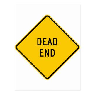 Dead End Highway Sign Postcard