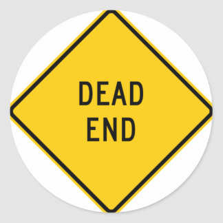 Dead End Highway Sign Stickers