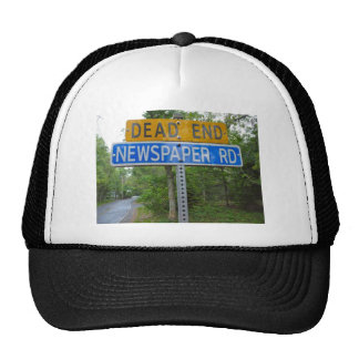 DEAD END NEWSPAPER ROAD TRUCKER HAT