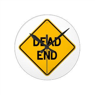 Dead End Sign Wallclock