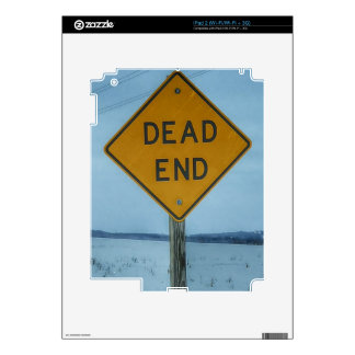 Dead End Sign Decal For The iPad 2