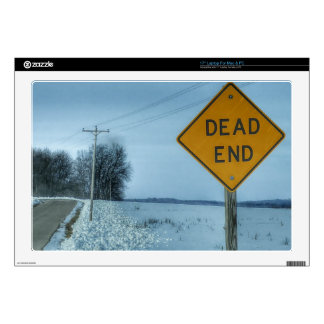 Dead End Sign Laptop Decal
