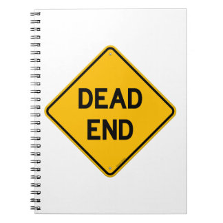 Dead End Sign Spiral Note Books