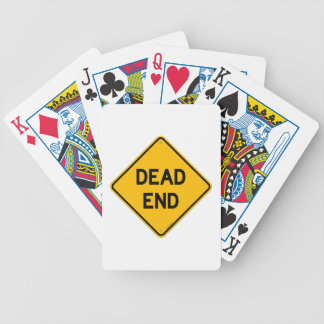 Dead End Sign Bicycle Playing Cards