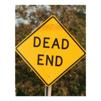 Dead End Street Sign Letterhead