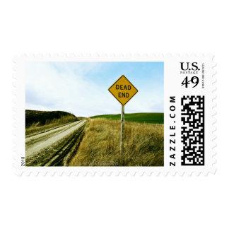 Dead end traffic sign, Palouse, Washington Postage Stamp