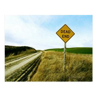 Dead end traffic sign, Palouse, Washington Postcard