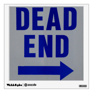 Dead End Wall Decal
