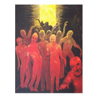 Dead End Zombie Hoard dark horror Art Postcard