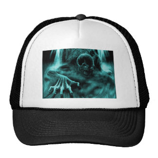 Dead evil blue trucker hat