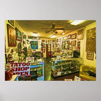 """""""Dead Eye Pete's Tattoo Shop"""" Poster"""