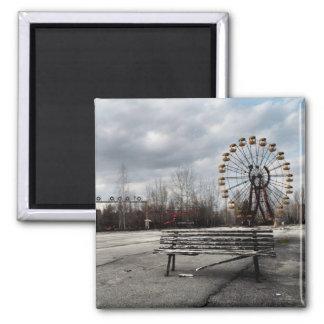 Dead Ferris Wheel 2 Inch Square Magnet