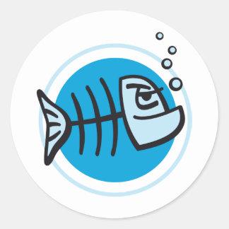 DEAD fish Classic Round Sticker