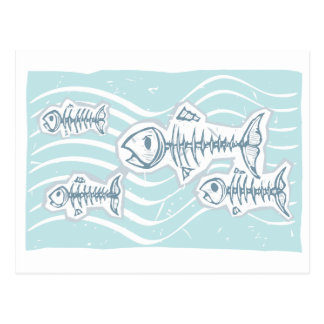 Dead Fish Postcard