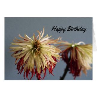 Dead Flowers Birthday Card