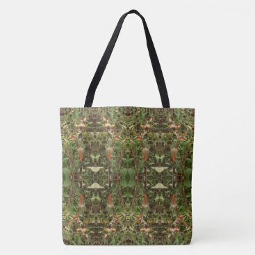 Halloween Themed Dead Flowers Pattern 1 Large Tote Bag