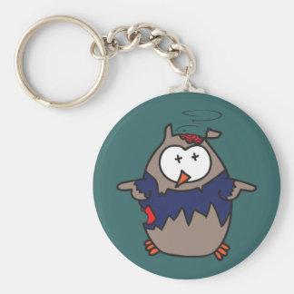 Dead Galoot Hoot (Zombie Owl) Keychain