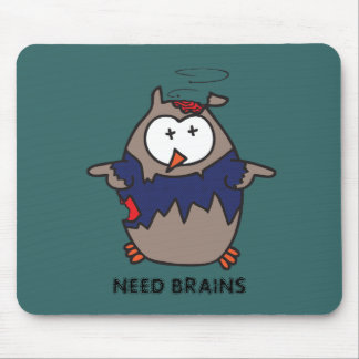 Dead Galoot Hoot (Zombie Owl) Mouse Pad