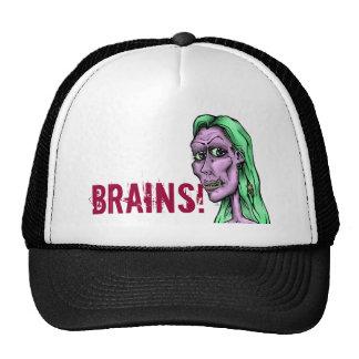 Dead Girl -grn, BRAINS! Trucker Hat
