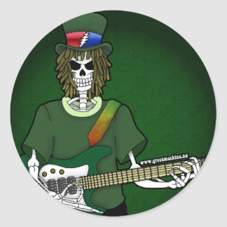 Dead Guitar Player Stickers