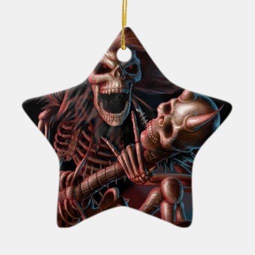 Dead guitare christmas tree ornament