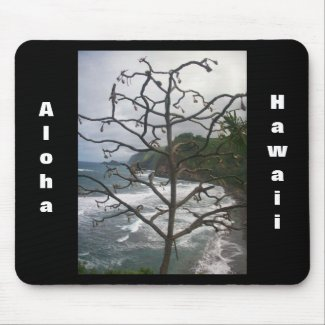 Dead Hawaiian Tree mousepad