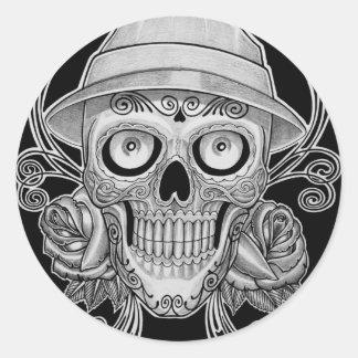 dead head classic round sticker