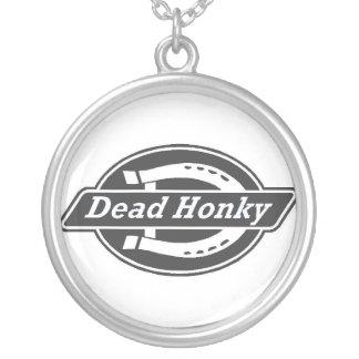 dead honky round pendant necklace