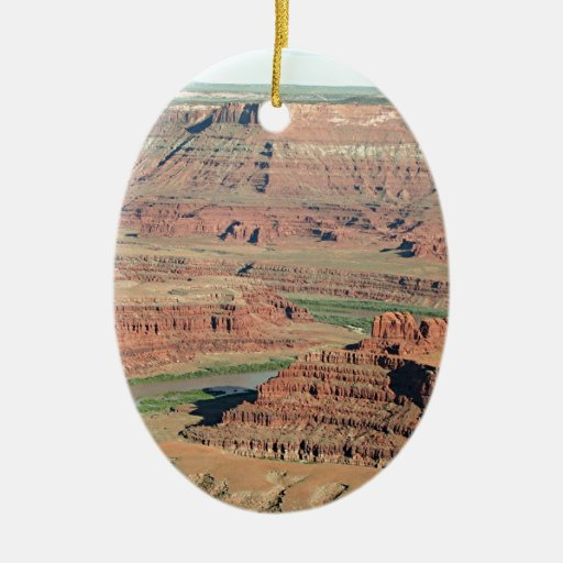 Dead Horse Point State Park, Utah, USA 4 Christmas Tree Ornament