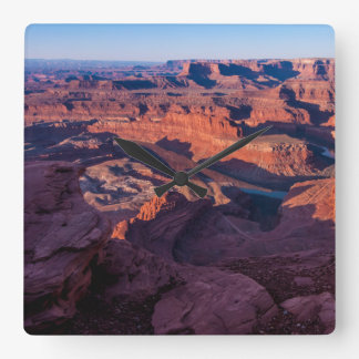 Dead Horse Point Sunrise - Moab, Utah Square Wall Clock