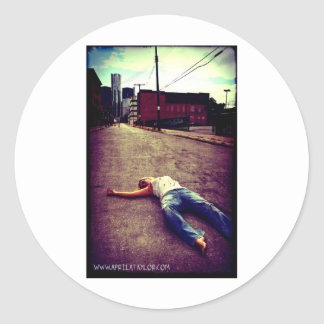 Dead in the City by April A Taylor Round Sticker