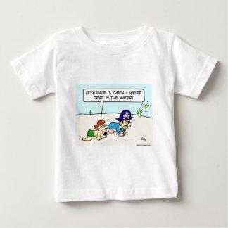 dead in water pirate desert captain baby T-Shirt