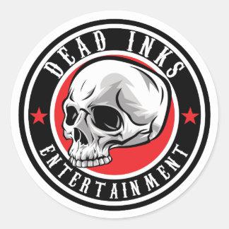 Dead Inks Stickers! Classic Round Sticker
