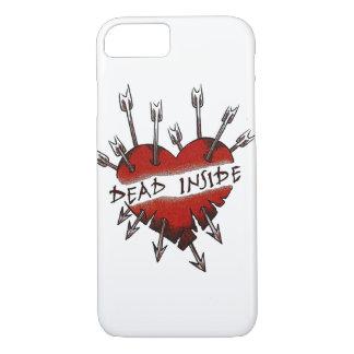 Dead Inside pierced heart iPhone 8/7 Case