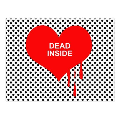 DEAD INSIDE POSTCARD