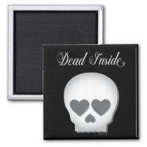 Dead Inside Skull Magnet