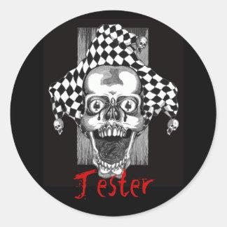 Dead Jester Sticker. Classic Round Sticker