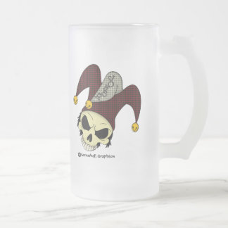 Dead Joker Frosted Beer Mug