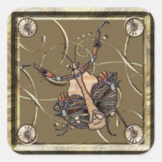 Dead Leaf Mantis Square Sticker