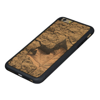 Dead Leaf on Dry Dirty Soil - Autumn Photography Carved Maple iPhone 6 Plus Bumper Case