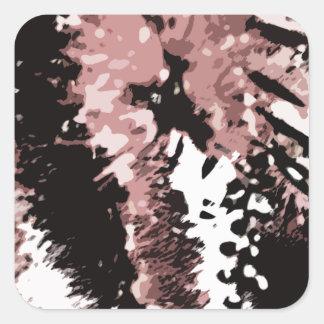 Dead leaves #2 square sticker