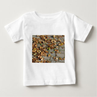 Dead leaves lying on the ground in the fall baby T-Shirt