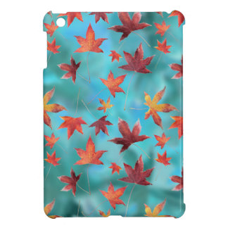Dead Leaves over Cyan iPad Mini Covers