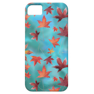 Dead Leaves over Cyan iPhone SE/5/5s Case